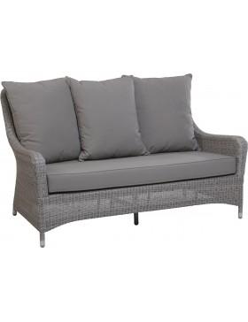 Canapé Transat en résine fine coloris Galet avec coussin