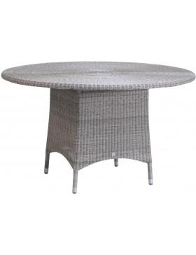 Table de jardin Cigale en résine coloris Galet diamètre 130 cm