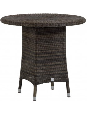 Table Cigale en résine coloris Poivre option verre