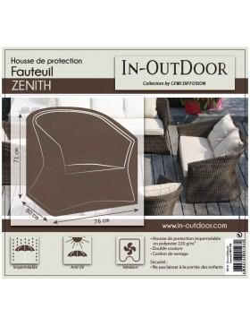 Housse de protection anthracite pour fauteuil Zenith