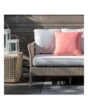 Table basse carrée de jardin Antibes en résine - coloris récif