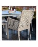 Fauteuil de table de jardin Antibes en résine - coloris récif