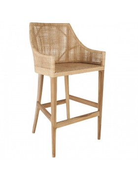Tabouret de bar en rotin Deauville In-OutDoor