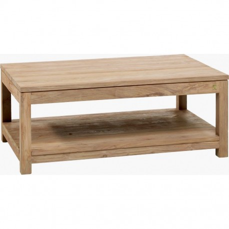 Table basse 100x70 - Table Drift en Teck brossé - Naturel