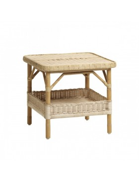 Table basse Nantucket en Moelle de Rotin Naturel