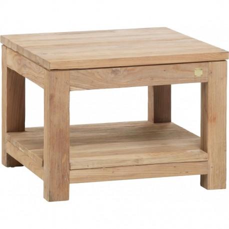 Table basse carrée - Table Drift en Teck brossé - Gris