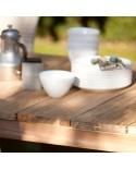Table basse Roma - Table en Teck brossé - Rustique