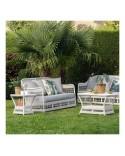 Canapé de jardin 2 places résine Biarritz