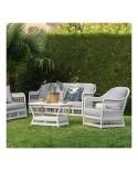 Canapé de jardin 3 places résine Biarritz