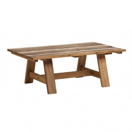 Table basse teck recyclé Roma 120x70