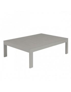 Table basse Sienna 100x70 alu gris béton