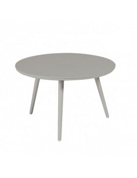 Table basse Sienna diamètre 60 alu gris béton