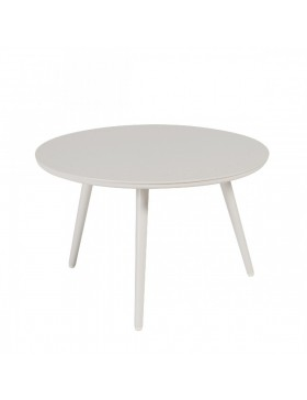 Table basse Sienna diamètre 60 alu blanc fumé