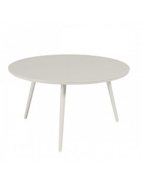 Table basse Sienna diamètre 80 alu blanc fumé