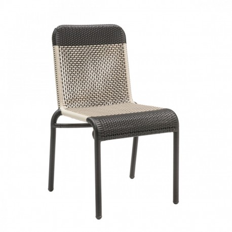 Chaise de jardin Tobago marron foncé