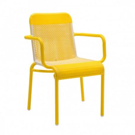 Chaise de jardin Tobago jaune