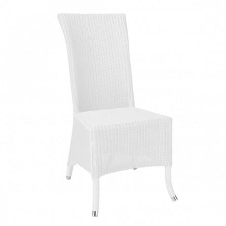 Chaise Lloyd Loom Amélie blanc IOD Design