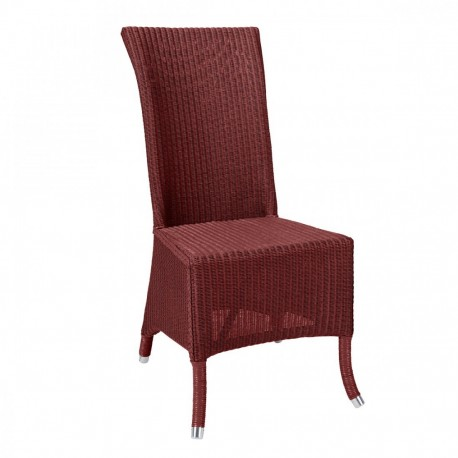 Chaise Lloyd Loom Amélie rouge rubis IOD Design