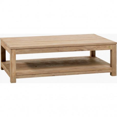 Table basse teck recyclé brossé 130x80