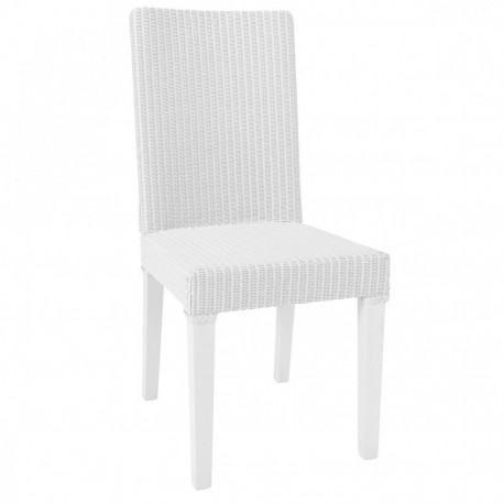 Chaise Lloyd Loom Bridget blanc IOD Design