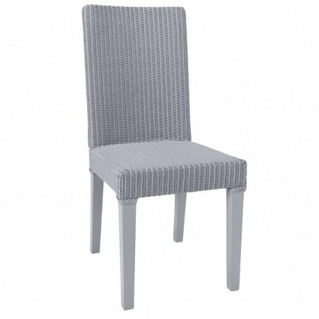 Chaise Lloyd Loom Bridget Bleu gris IOD Design