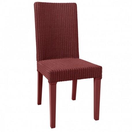 Chaise Lloyd Loom Bridget Rouge rubis IOD Design